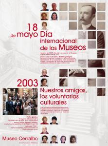 Cartel Museo Cerralbo. Día Internacional de los Museos 2003.