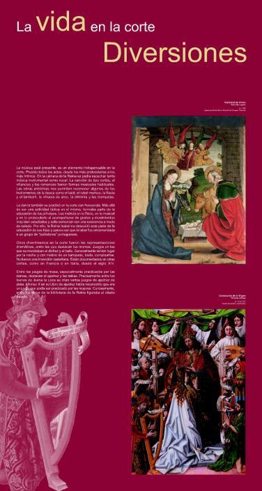 Panel gráfico La Reina y la Corte de Castilla - 1