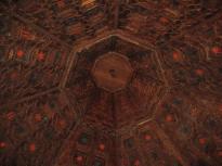 Artesonado de la habitación del marqués. (Foto Lavila arquitectos)