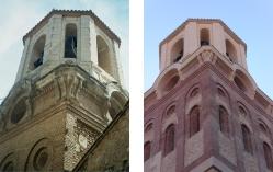 Estado inicial y final del cuerpo superior de la torre.