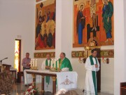 Celebración de la Eucaristía.