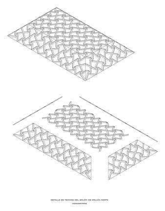 Planos de techos. Artesonado de salón de planta segunda -1