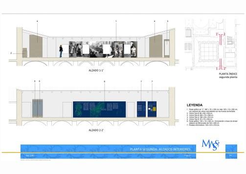 Secciones Claustro. Proyecto Museográfico