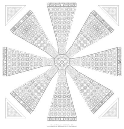 Planos de techos. Artesonado de la habitación del marqués -2