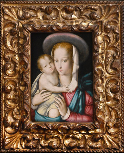 """""""Virgen del Niño"""" o """"Virgen del Sombrero"""", de Luis de Morales."""