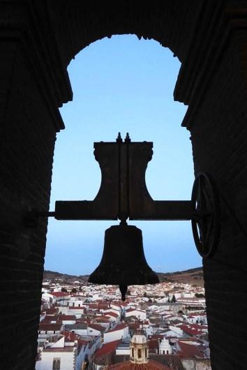 El casco histórico desde el cuerpo de campanas.
